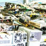 31591498 - electronic waste ready for recycling(mainboard computer)