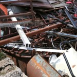 81807519 - rusted objects in a dump in recycler that recovers ferrous material